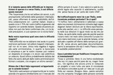 SPEDIZIONI INTERNAZIONALI: BUONA COLLABORAZIONE CON L'ITALIA